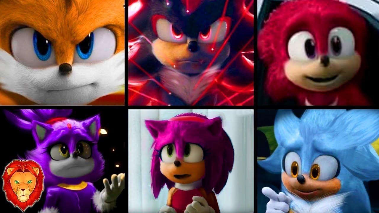 Todos Los Personajes De La Pelicula De Sonic En Espanol 2020 Pelicula Sonic Leon Picaron Youtube