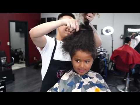 LONG HAIR TRANSFORMATION | KIDS FIRST HAIRCUT | CURLY COMB OVER