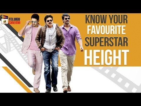 Know Your Favourite Tollywood Superstar Height | Tollywood Celebrity Updates | Mango Telugu Cinema