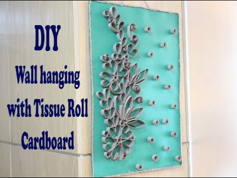 YouTube Premium & Wall Hanging With Recycled Tissue Rolls: Wall Art - YouTube