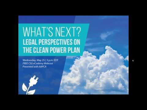 What's Next? Legal Perspectives on the Clean Power Plan