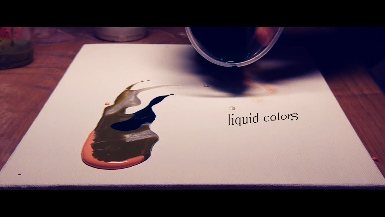 Liquid colors abstract painting demo youtube for How to make fluid acrylic paint