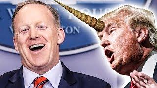 "Sean Spicer Calls Trump A ""Unicorn Riding A Unicorn Over A Rainbow"""