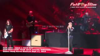 BON JOVI - HAVE A NICE DAY live in Jakarta, Indonesia 2015