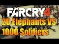 Far Cry 4 - 20 Elephants VS 1000 Soldiers