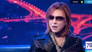 """""""X Japan"""" Yoshiki appears on 'Good78News' TV shows in Russia !! 2018.02.10"""
