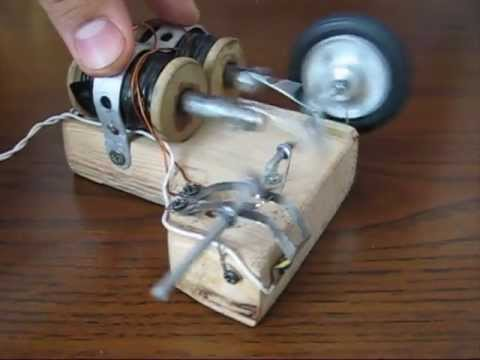 Double Solenoid Electric Engine Homemade Motor