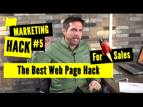 The Single Best Web Page Hack for Increased Sales: Marketing Hack #5
