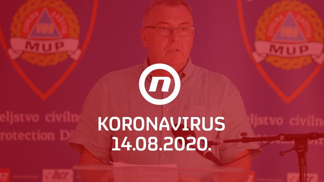 Nacionalni stožer objavljuje informacije o koronavirusu 14.8.2020.