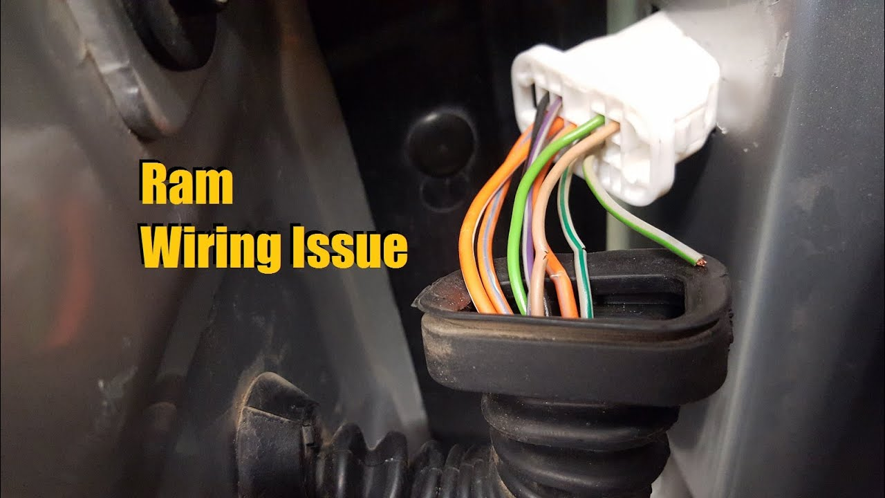 maxresdefault dodge ram wiring issue (2003 2008) youtube 2006 dodge ram stereo wire harness at crackthecode.co