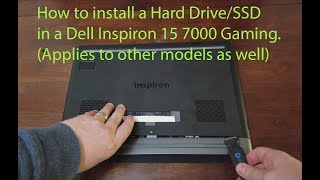How to Install or replace a Hard Drive or SSD in Dell Inspiron 15 7000 Gaming