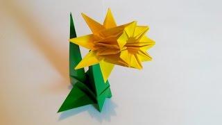 Нарцис 8 лепестков, Narcissus origami, 8 petals (František Grebeníček)