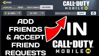 How to add friend in CALL OF DUTY MOBILE | Accept Friend Request in CALL OF DUTY MOBILE