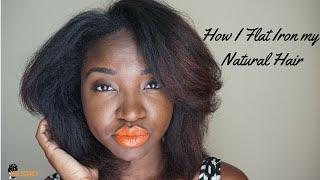 how i flat iron my natural hair