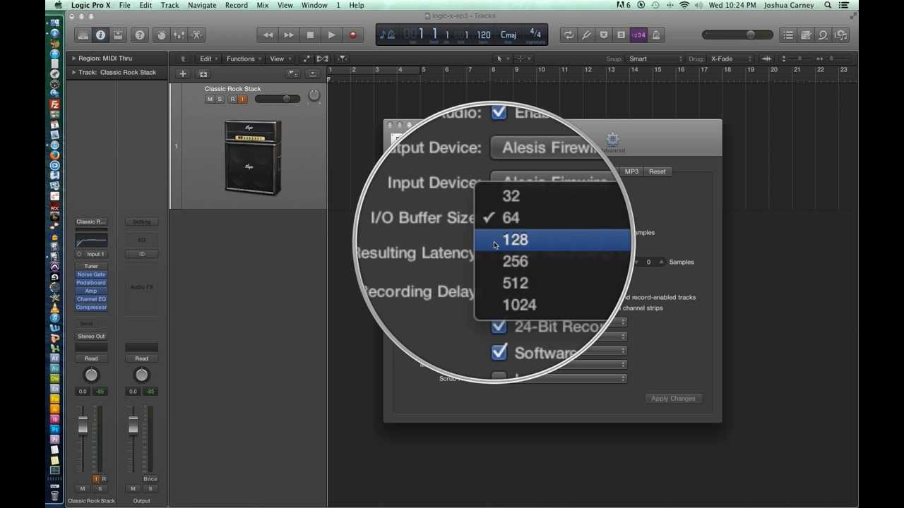 Logic Pro X - Video Tutorial 03 - Sample Rate, Bit Depth, I/O ...