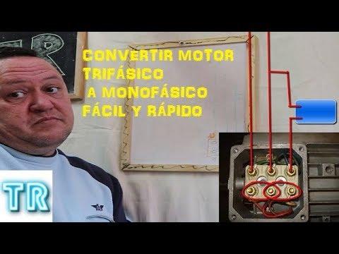Convertir Motor Trifásico A Monofásico Youtube