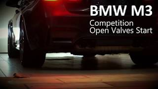 BMW M3/M4 Competition Start Valves Open