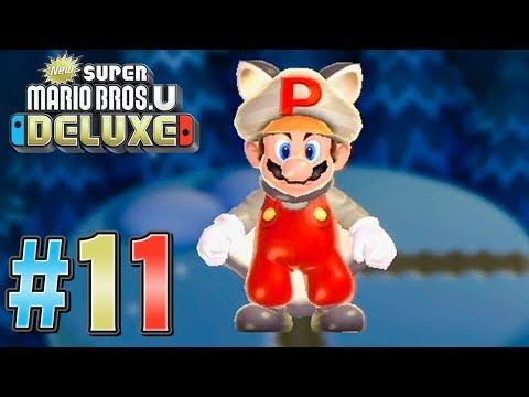 隠しゴールに行こうぜ!Pムササビマリオやばすぎる『New スーパーマリオブラザーズ U デラックス』を実況プレイpart11