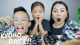 KYOHO GRAPE JELLY RACE Challenge Mukbang | N.E Let's Eat