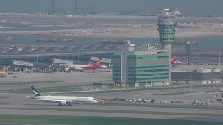 🔴 Hong Kong Airport with Air Traffic Control 香港國際機場