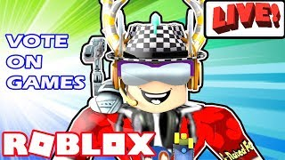 Roblox Live - Vote On and Play Various Games - Jailbreak Museum Update, Heroes, Deathrun, & More!