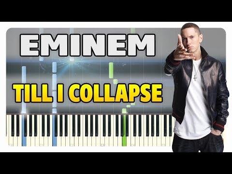 Eminem - Till I Collapse Piano Tutorial (Sheet Music + midi)