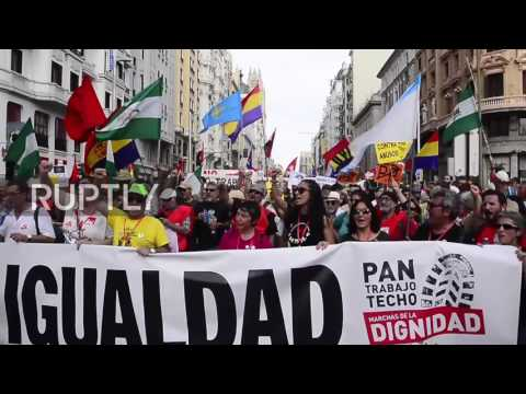 Spain: Thousands rally against new austerity measures in Madrid