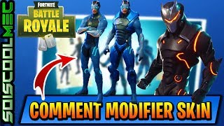 HOW TO CHANGE HIS SKIN OMÉGA OR CARBURO! REMOVE OR ADD EQUIPMENT! FORTNITE BATTLE ROYAL!