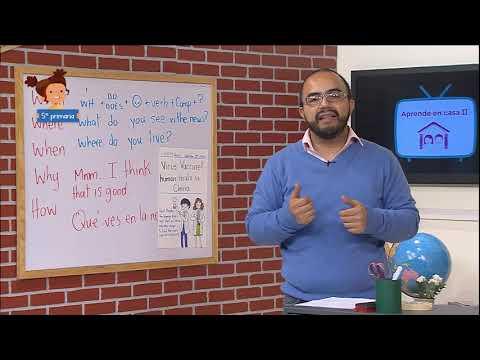 #AprendeEnCasa II  5º Primaria    Inglés   Vamos a preguntar  25 de septiembre 2020