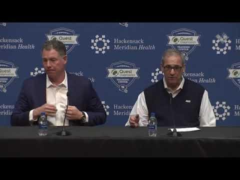 Dave Gettleman and Pat Shurmur Recap End  of Draft  Day 3 picks