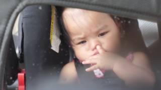 Cute baby picking nose