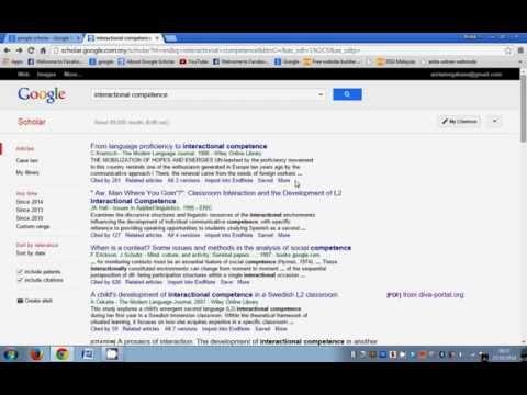 Google Scholar for Researchers