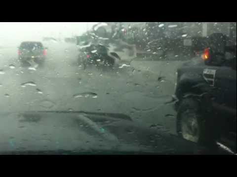 flooding in the streets august 14th 2012 airdrie alberta hail and rain
