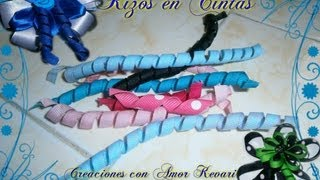 Como Rizar Cintas para lazos/How To Make Korker Ribbon.