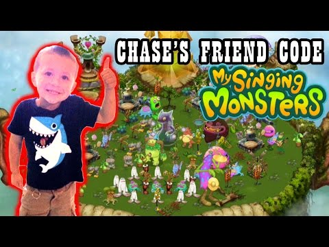 Chase's Friend Code On My Singing Monster's !