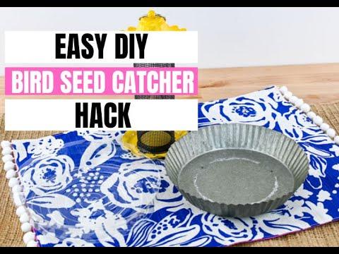 DIY Bird Feed Catcher