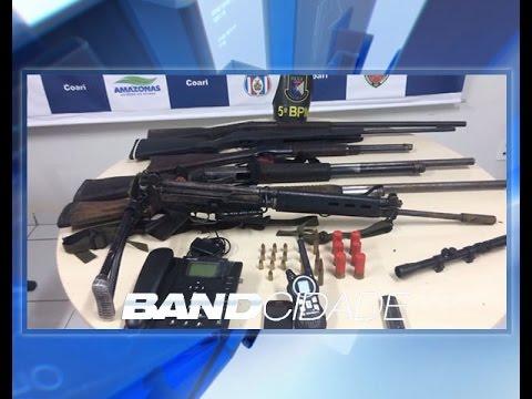 Polícia apreende fuzil das Forças Armadas com bandidos em Coari