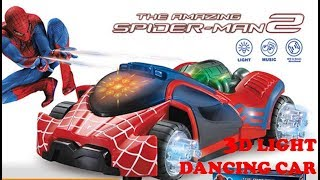 Super Power 3D light music electric spider-man car toy LED luminous sound Fighting vehicle toys kids