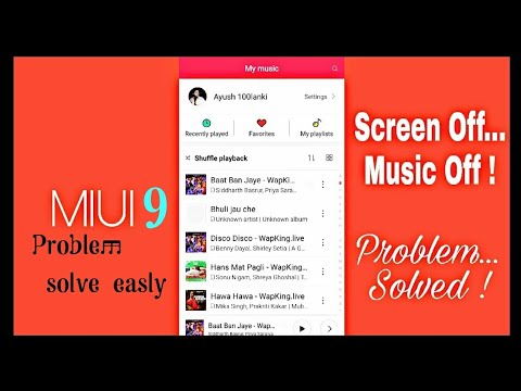 Redmi note 4 me Screen lock music off or, ruk ruk ke chalna.Easly solve problem.