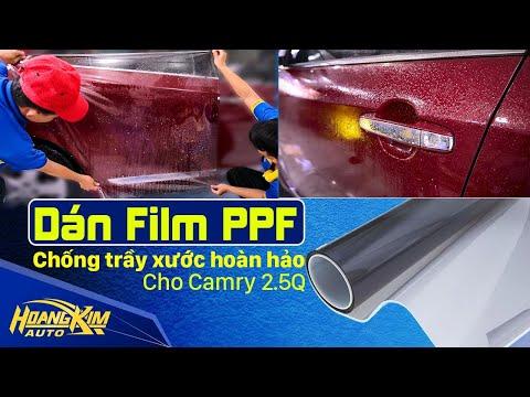 Dán Film PPF CHỐNG TRẦY XƯỚC hoàn hảo cho CAMRY- Ô Tô Hoàng Kim