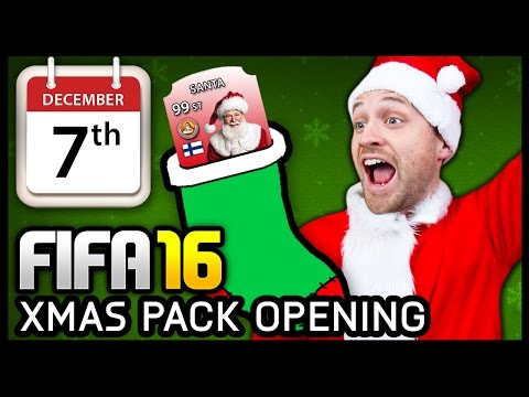 XMAS ADVENT CALENDAR PACK OPENING #7 - FIFA 16 ULTIMATE TEAM