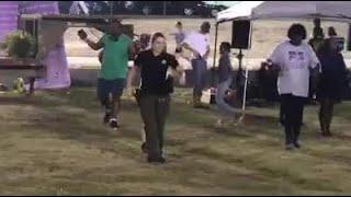 Colleton County Deputy dancing