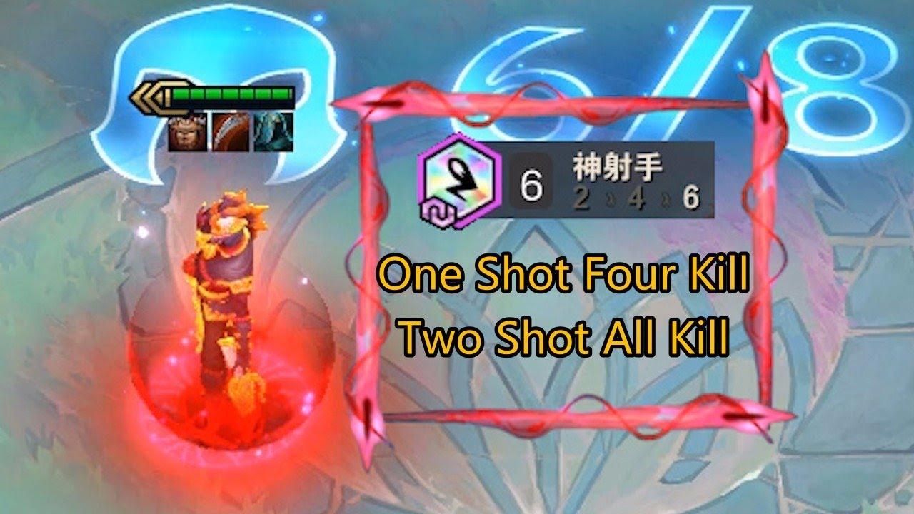 TFT Set 4 One Shot,Four Kill,Two Shot,All Kill! Ever Seen the Auto Aiming Bullet?| Teamfight Tactics