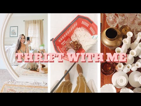 THRIFT WITH ME & HAUL | home decor & wedding decor