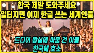 [한글 포스터] 한국 제발 도와주세요 일터지면 이제 한…