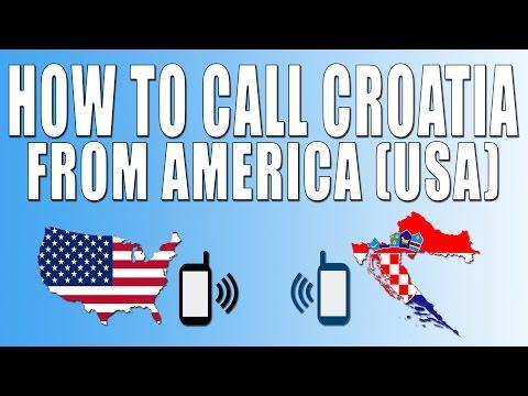 How To Call Croatia From America (USA)