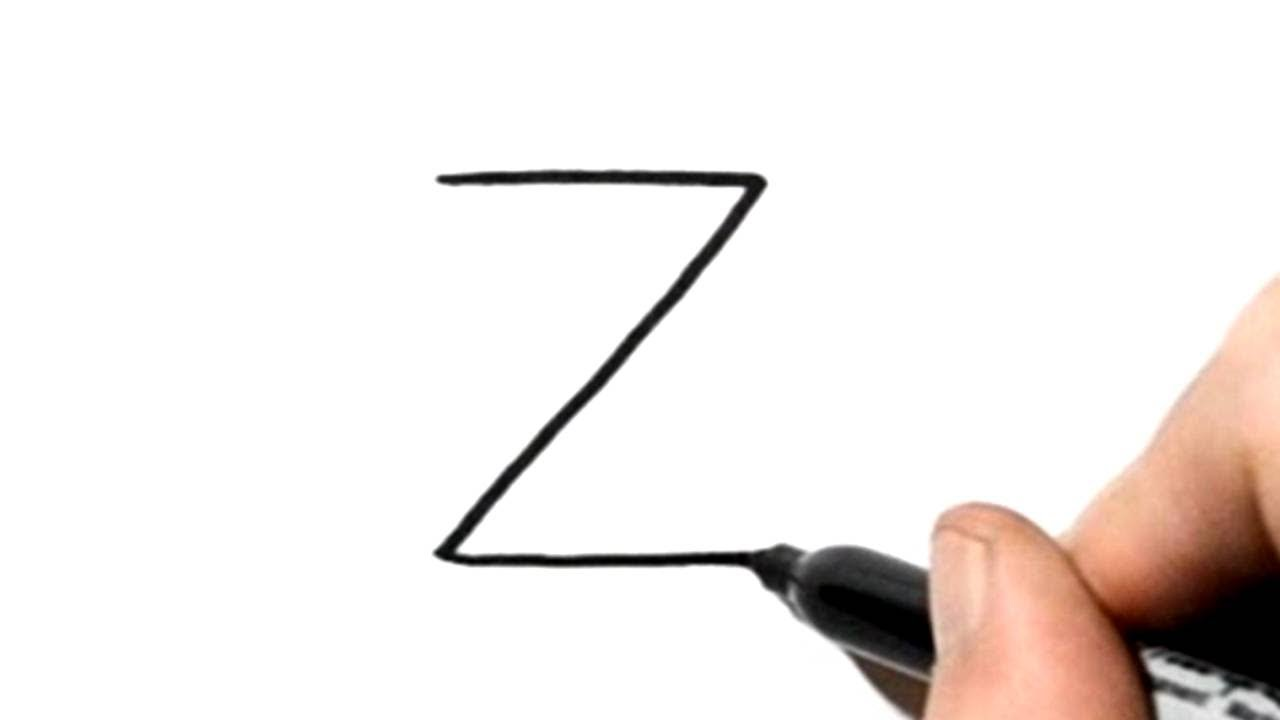 How to turn Letter Z into a Zebra - LetterToons A-Z ...