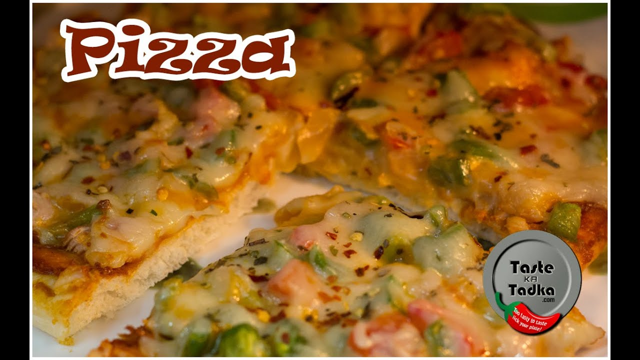 Veg Pizza Recipe In Microwave Oven English Subles