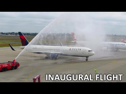 """INAUGURAL FLIGHT"" Delta Airlines 767-300ER 