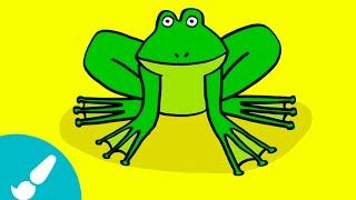 Cómo dibujar una rana I How to draw a frog